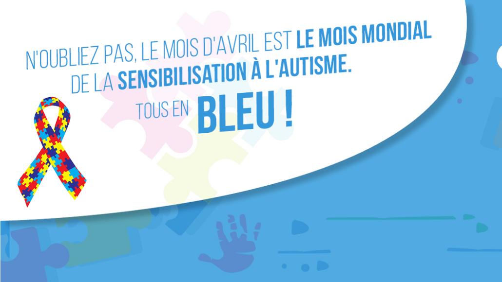Affiche Mois Mondial de la Sensibilisation à l'Autisme